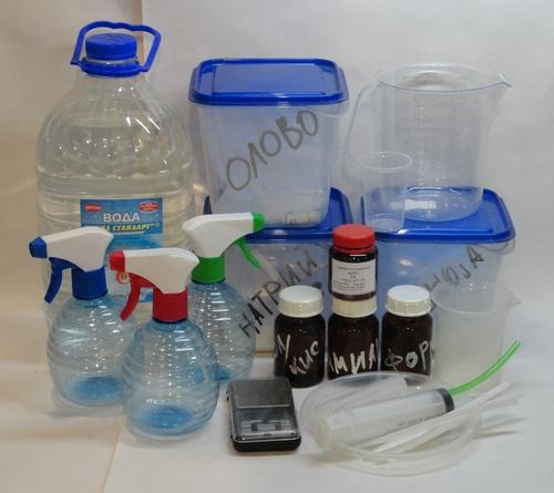 Набор реагентов и оборудования для химической металлизации серебром